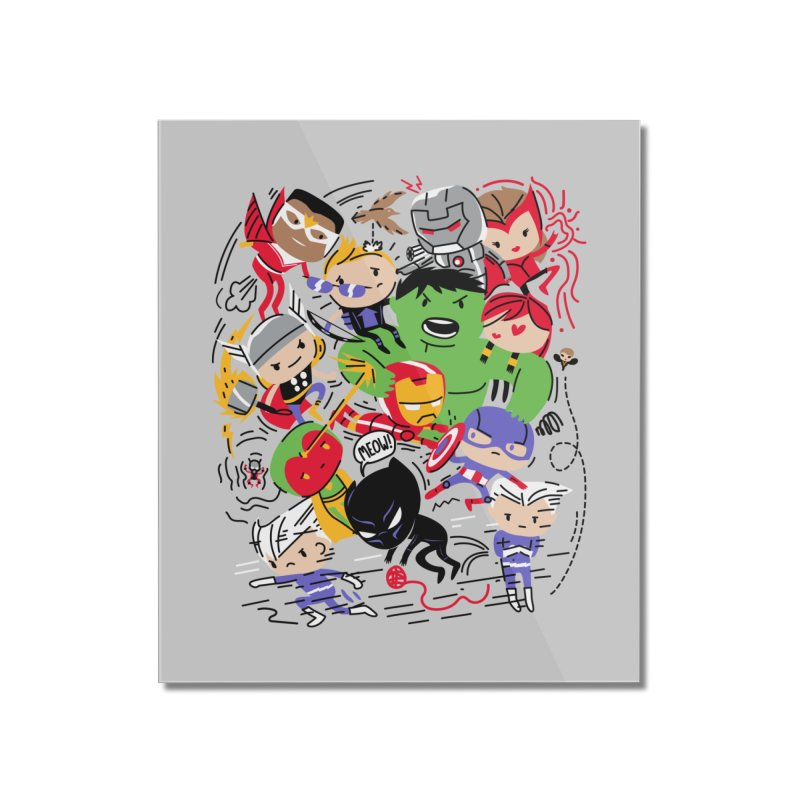 Kidvengers Home Mounted Acrylic Print by danielstevens's Artist Shop