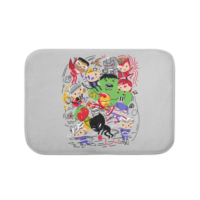 Kidvengers Home Bath Mat by Daniel Stevens's Artist Shop