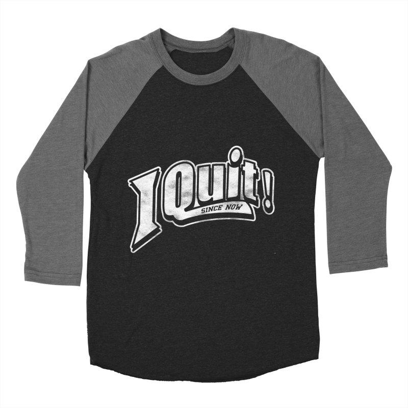 I quit! Men's Baseball Triblend Longsleeve T-Shirt by Daniel Stevens's Artist Shop