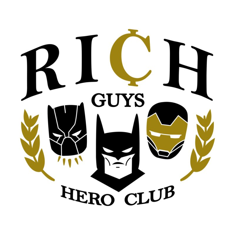 Rich Guys Hero Club Women's Zip-Up Hoody by Daniel Stevens's Artist Shop