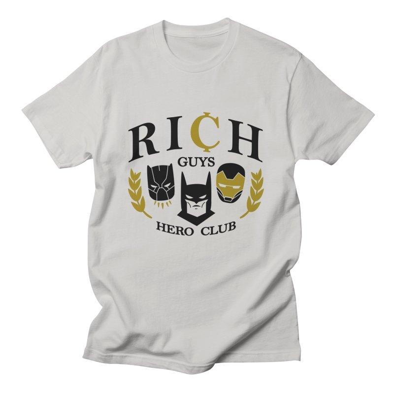 Rich Guys Hero Club Men's T-Shirt by Daniel Stevens's Artist Shop