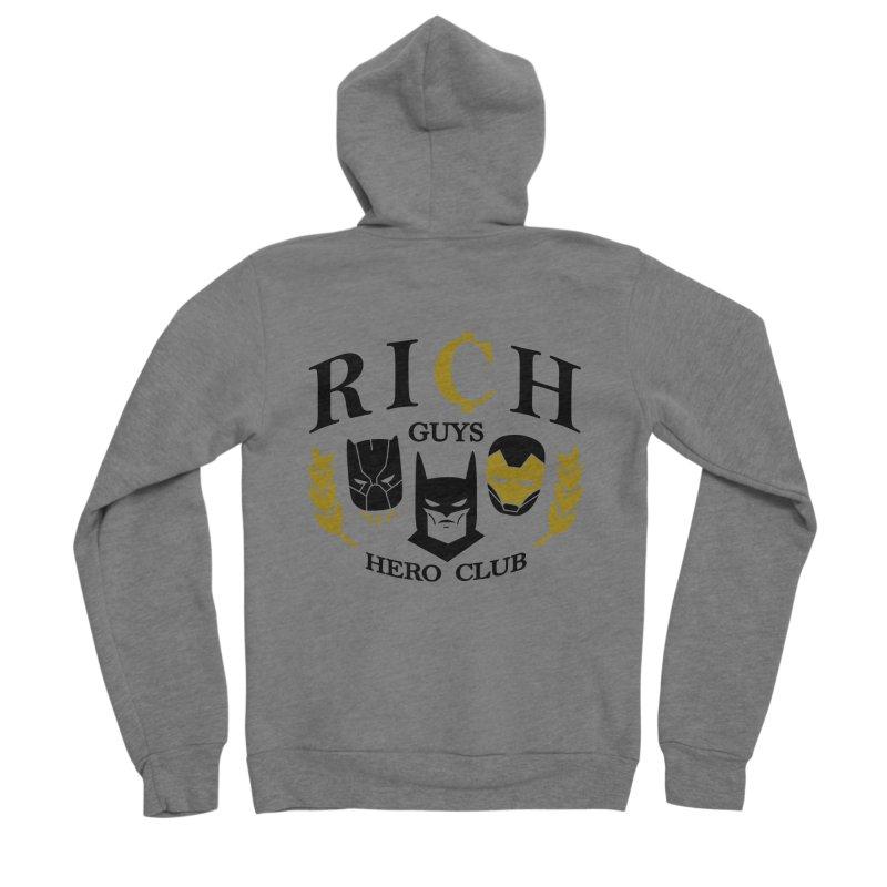 Rich Guys Hero Club Men's Zip-Up Hoody by Daniel Stevens's Artist Shop