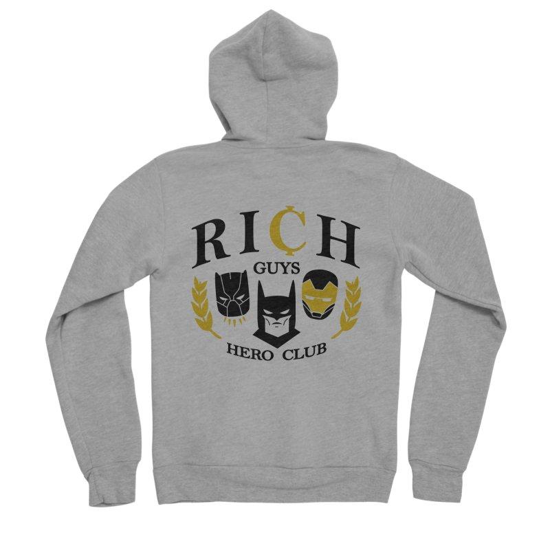 Rich Guys Hero Club Men's Sponge Fleece Zip-Up Hoody by Daniel Stevens's Artist Shop
