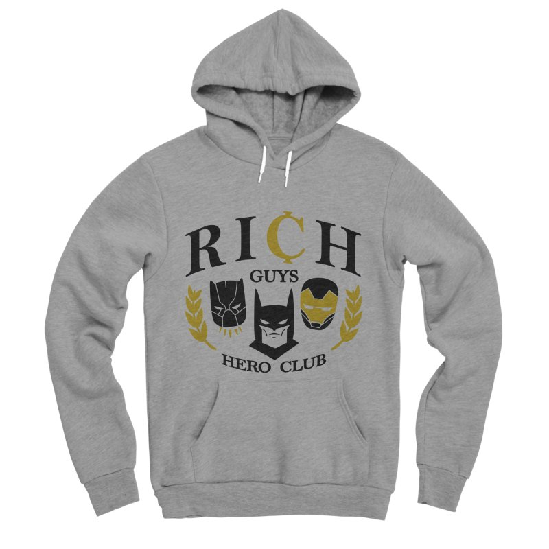 Rich Guys Hero Club Men's Sponge Fleece Pullover Hoody by Daniel Stevens's Artist Shop