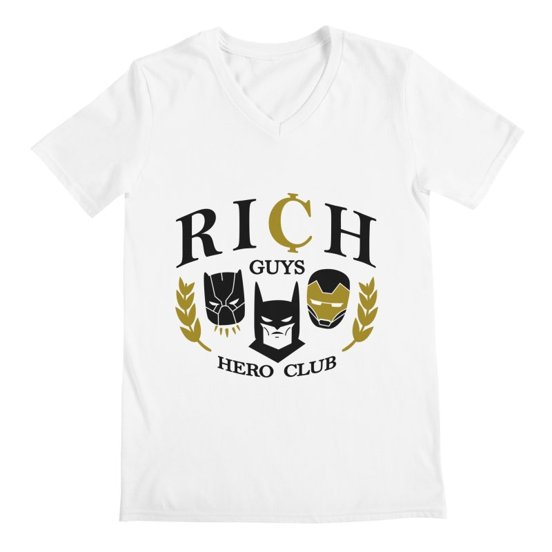 Rich Guys Hero Club Men's V-Neck by Daniel Stevens's Artist Shop