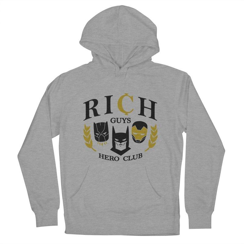 Rich Guys Hero Club Men's French Terry Pullover Hoody by Daniel Stevens's Artist Shop