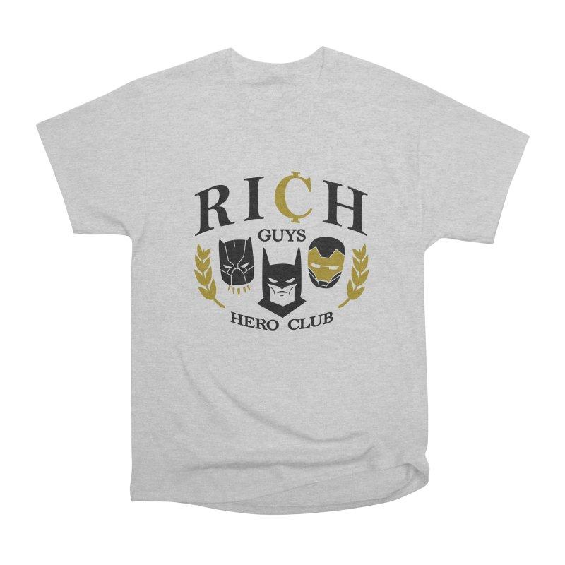 Rich Guys Hero Club Women's Heavyweight Unisex T-Shirt by Daniel Stevens's Artist Shop