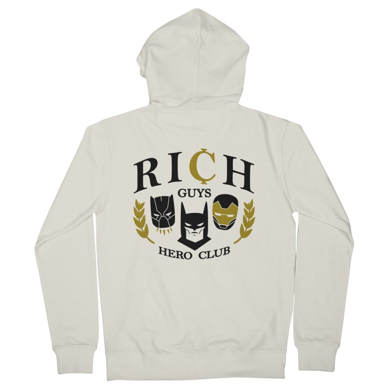 Rich Guys Hero Club Men's Zip-Up Hoody by Daniel Stevens's Artist Shop