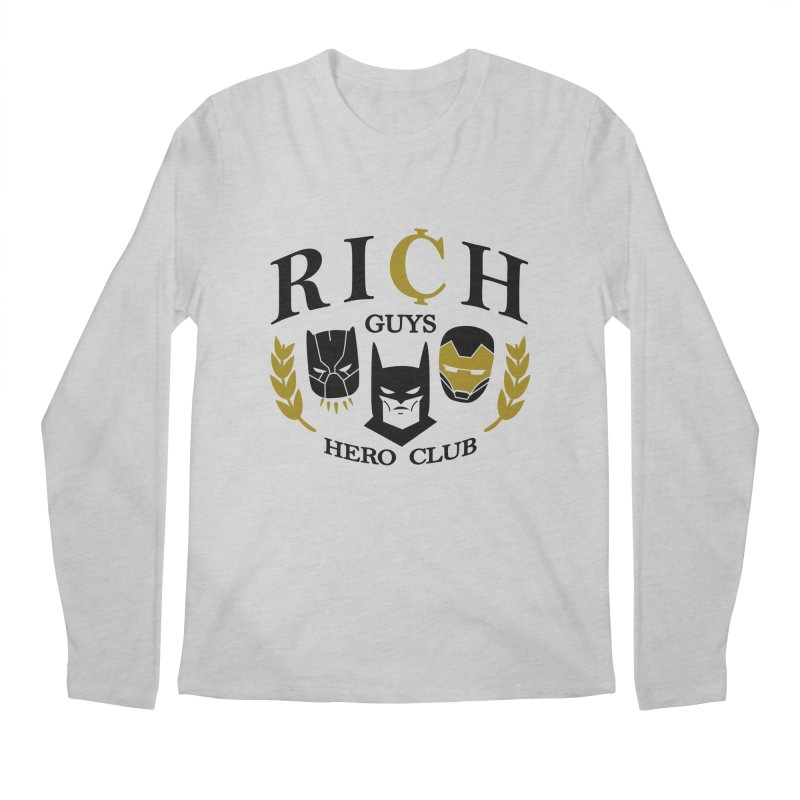 Rich Guys Hero Club Men's Regular Longsleeve T-Shirt by Daniel Stevens's Artist Shop