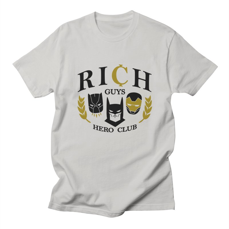 Rich Guys Hero Club Men's T-Shirt by Daniel Stevens's Artist Shop