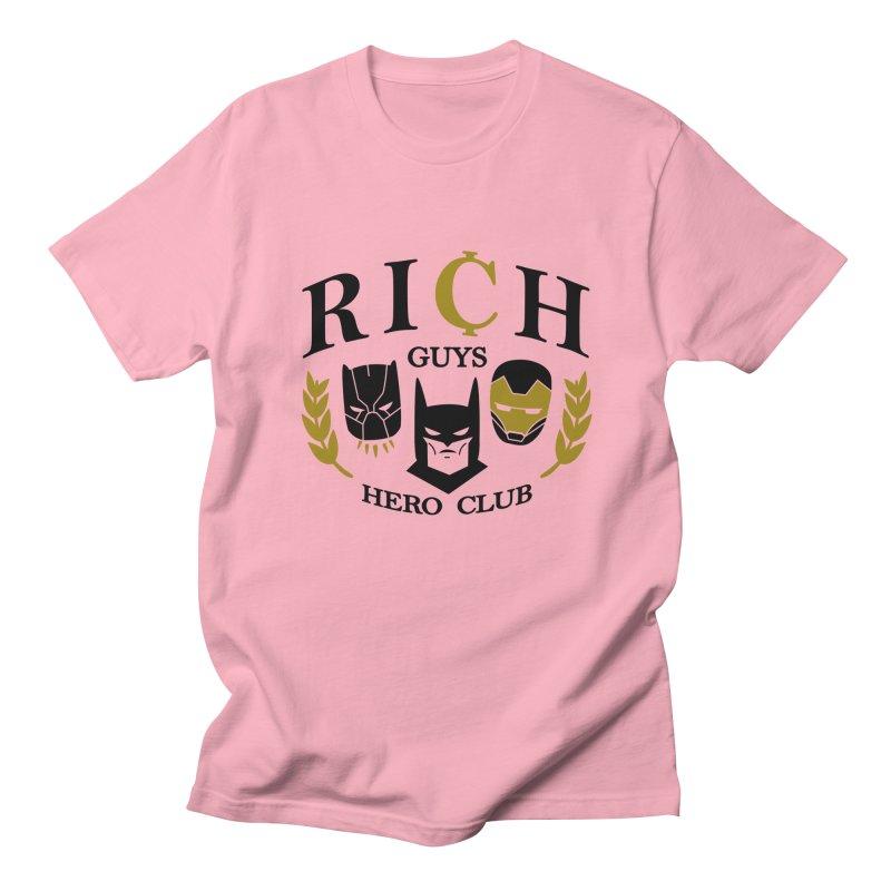 Rich Guys Hero Club Men's Regular T-Shirt by Daniel Stevens's Artist Shop
