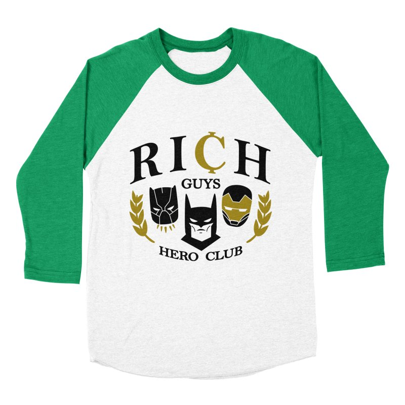 Rich Guys Hero Club Men's Baseball Triblend Longsleeve T-Shirt by Daniel Stevens's Artist Shop