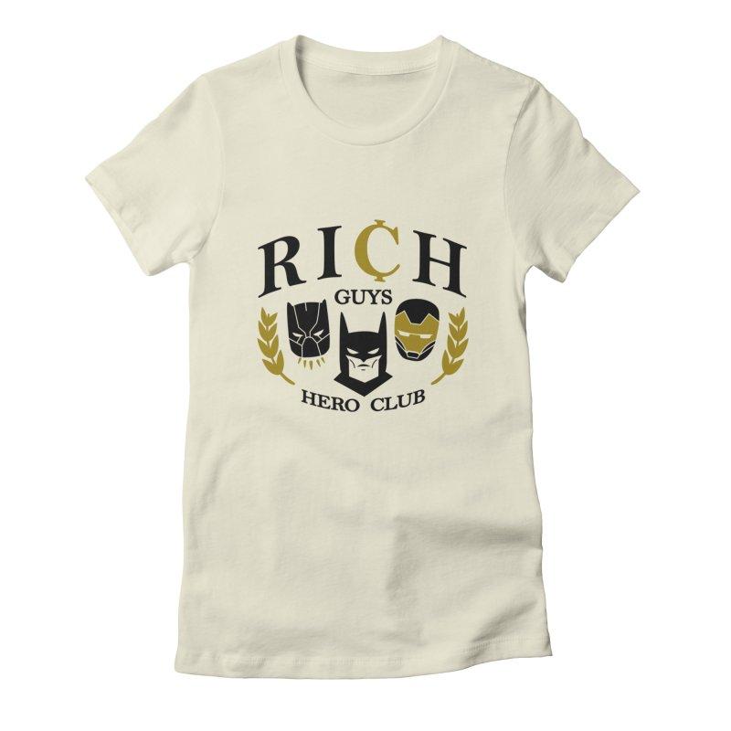 Rich Guys Hero Club Women's T-Shirt by Daniel Stevens's Artist Shop