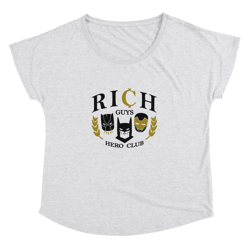 Rich Guys Hero Club Women's Scoop Neck by Daniel Stevens's Artist Shop