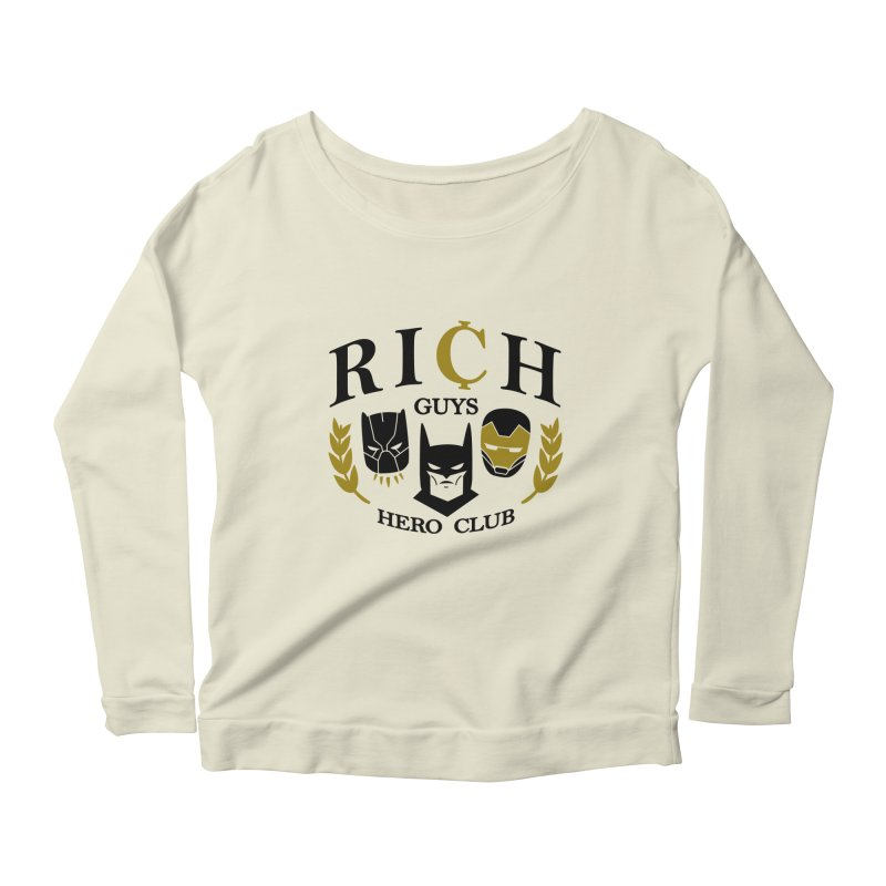 Rich Guys Hero Club Women's Scoop Neck Longsleeve T-Shirt by danielstevens's Artist Shop
