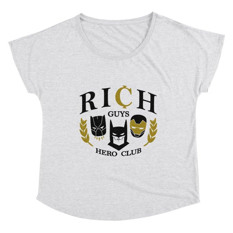 Rich Guys Hero Club Women's Scoop Neck by Daniel Stevens's Artist Shop