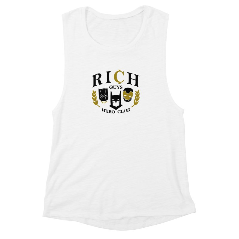 Rich Guys Hero Club Women's Tank by Daniel Stevens's Artist Shop