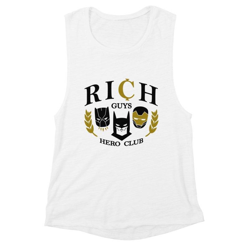 Rich Guys Hero Club Women's Tank by Daniel Stevens's Artist Shop