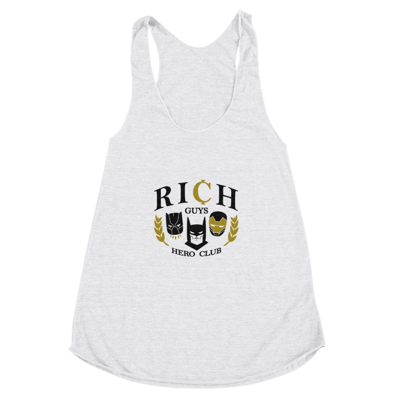 Rich Guys Hero Club Women's Racerback Triblend Tank by danielstevens's Artist Shop