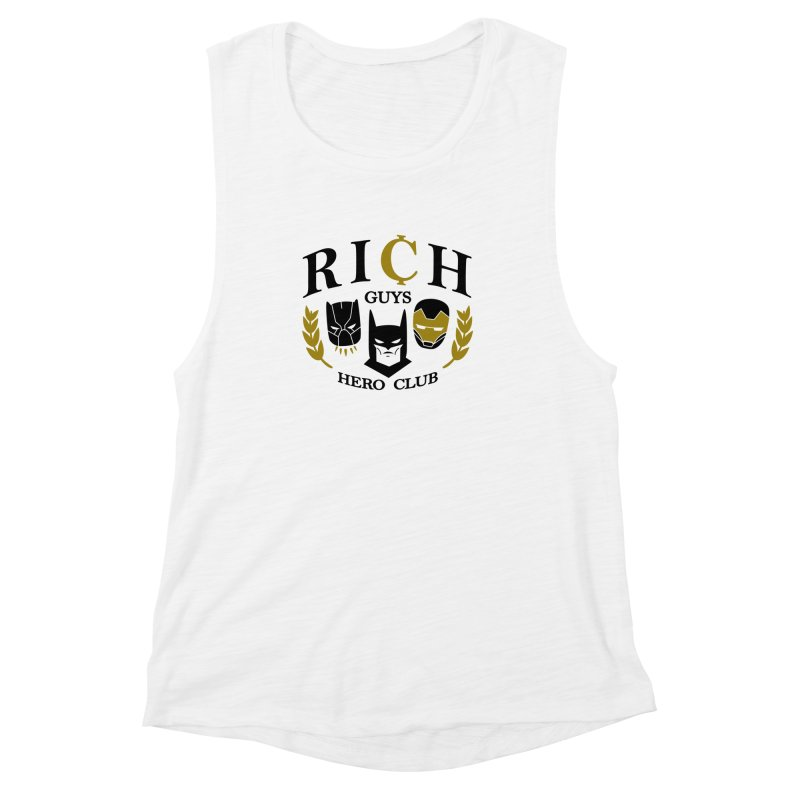 Rich Guys Hero Club Women's Muscle Tank by danielstevens's Artist Shop