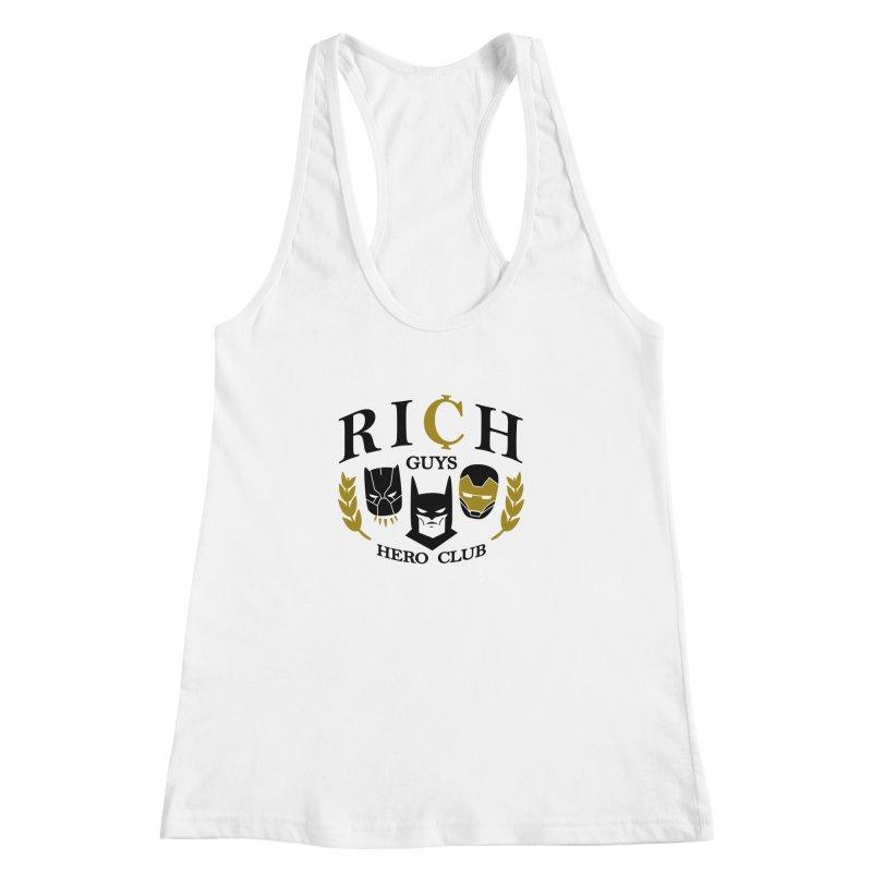 Rich Guys Hero Club Women's Racerback Tank by danielstevens's Artist Shop