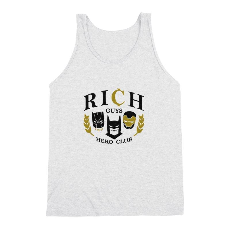 Rich Guys Hero Club Men's Triblend Tank by Daniel Stevens's Artist Shop