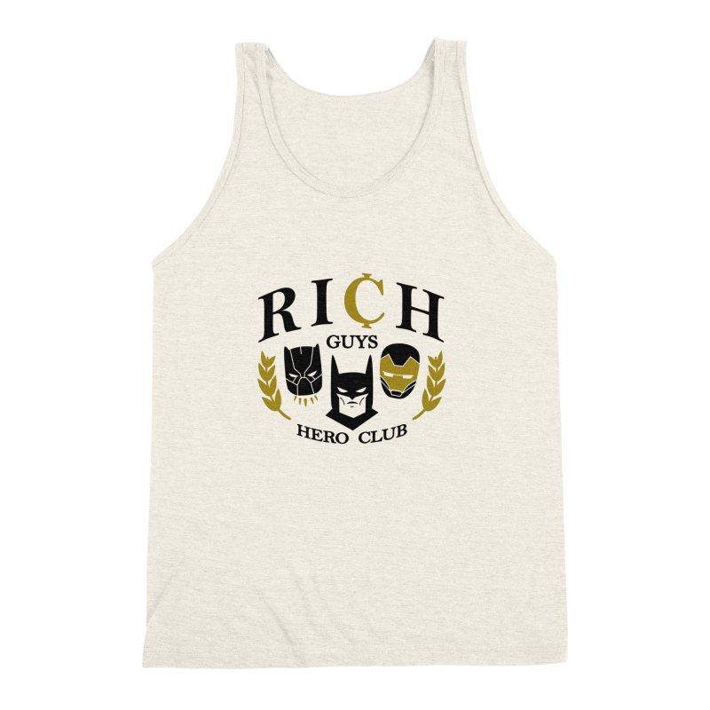 Rich Guys Hero Club Men's Triblend Tank by danielstevens's Artist Shop
