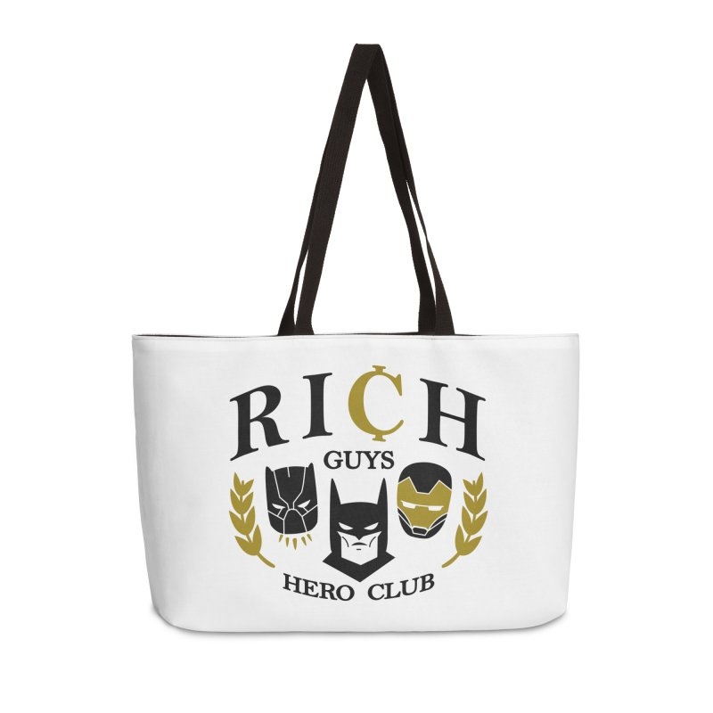 Rich Guys Hero Club Accessories Weekender Bag Bag by Daniel Stevens's Artist Shop