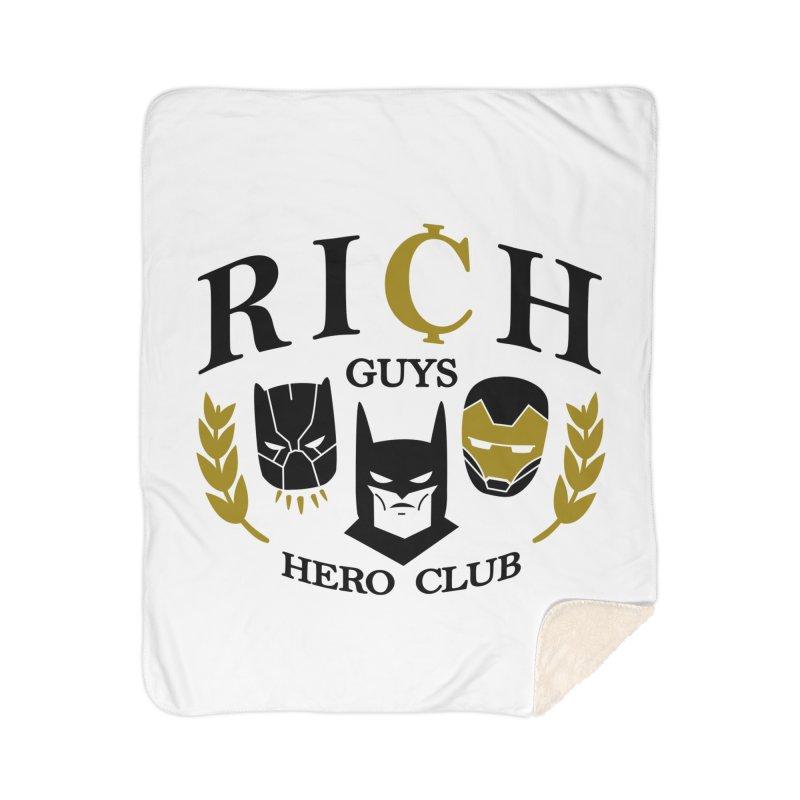 Rich Guys Hero Club Home Sherpa Blanket Blanket by Daniel Stevens's Artist Shop