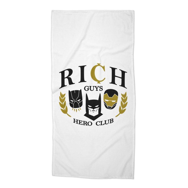 Rich Guys Hero Club Accessories Beach Towel by danielstevens's Artist Shop