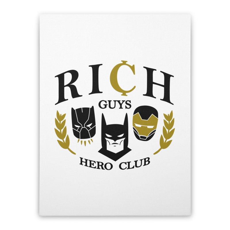 Rich Guys Hero Club Home Stretched Canvas by Daniel Stevens's Artist Shop