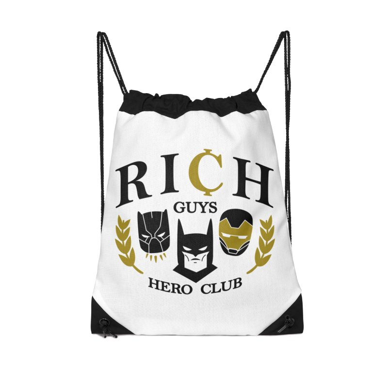 Rich Guys Hero Club Accessories Drawstring Bag Bag by Daniel Stevens's Artist Shop