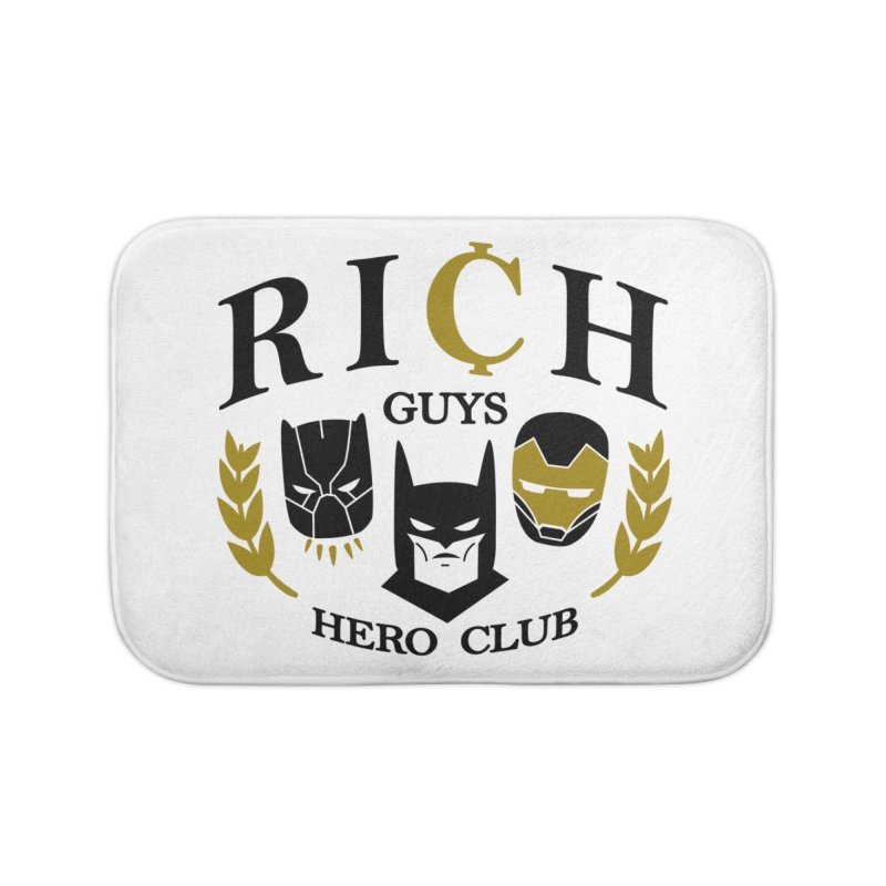 Rich Guys Hero Club Home Bath Mat by Daniel Stevens's Artist Shop