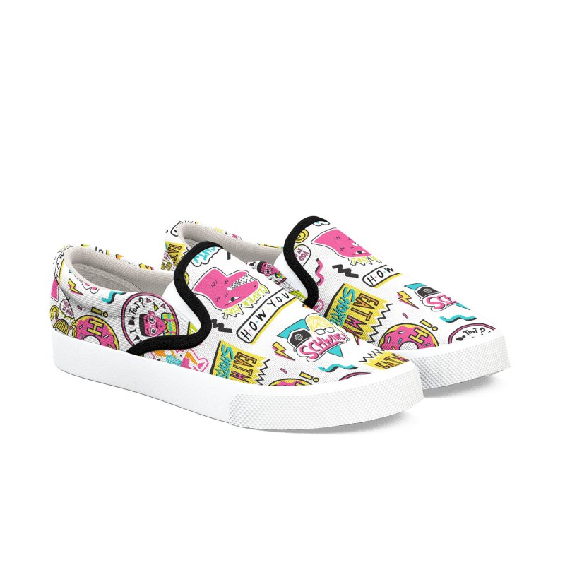Say Whaaat! in Women's Slip-On Shoes by danielstevens's Artist Shop