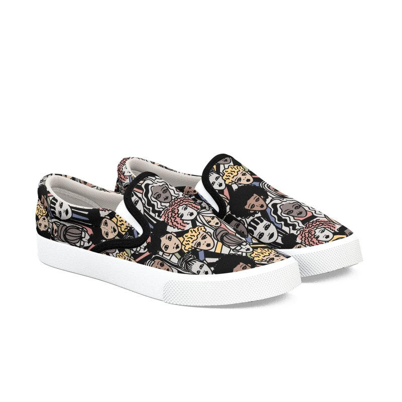Connected in Women's Slip-On Shoes by Daniel Stevens's Artist Shop