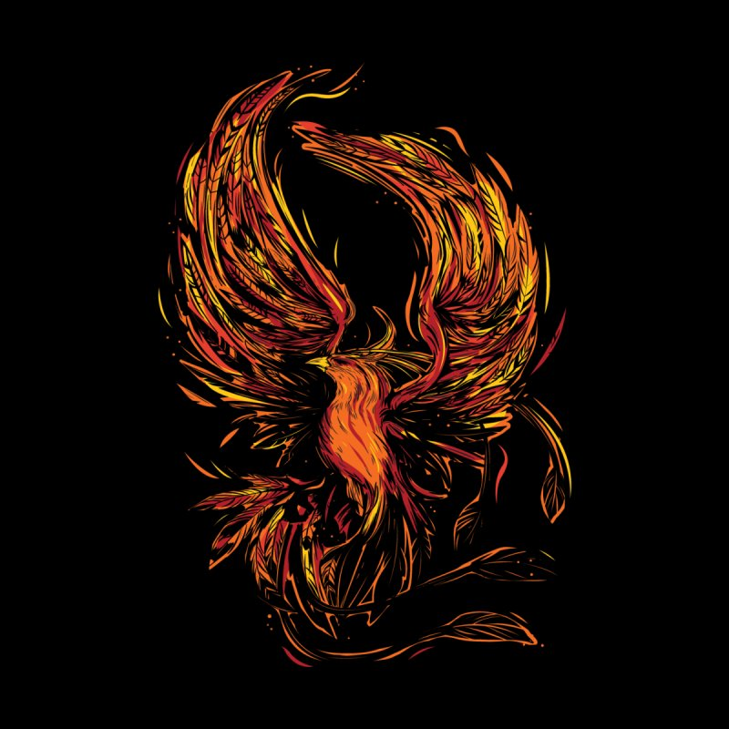 Phoenix Men's T-Shirt by Daniel Stevens's Artist Shop