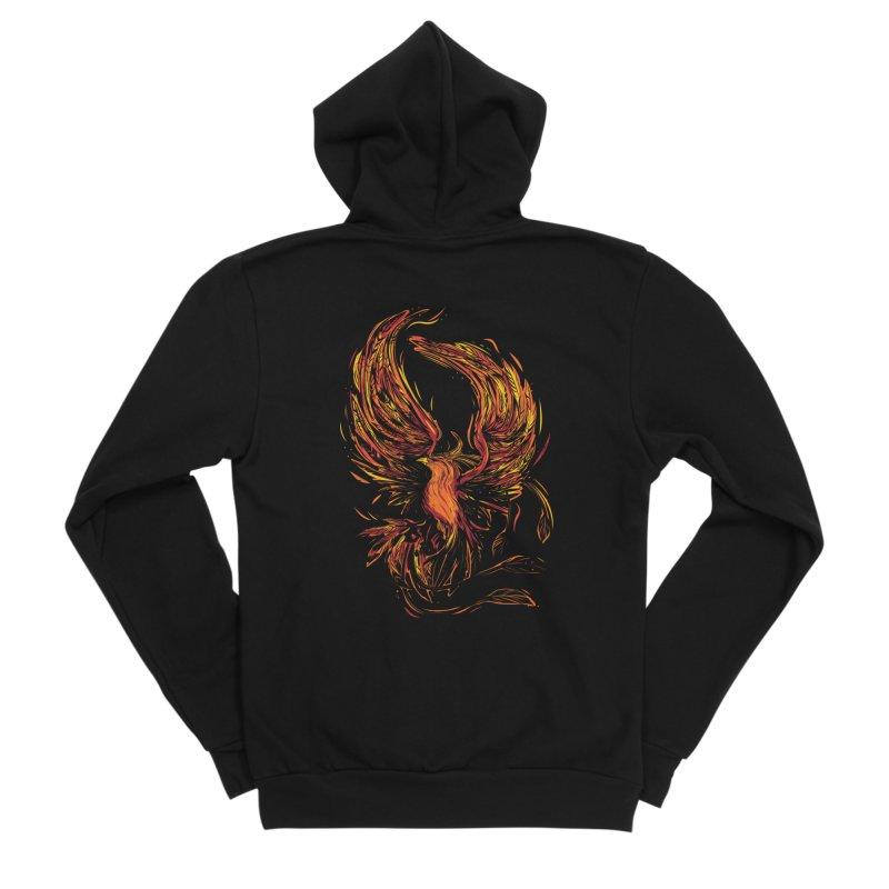 Phoenix Men's Zip-Up Hoody by Daniel Stevens's Artist Shop