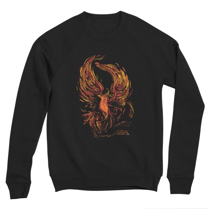 Phoenix Men's Sweatshirt by Daniel Stevens's Artist Shop