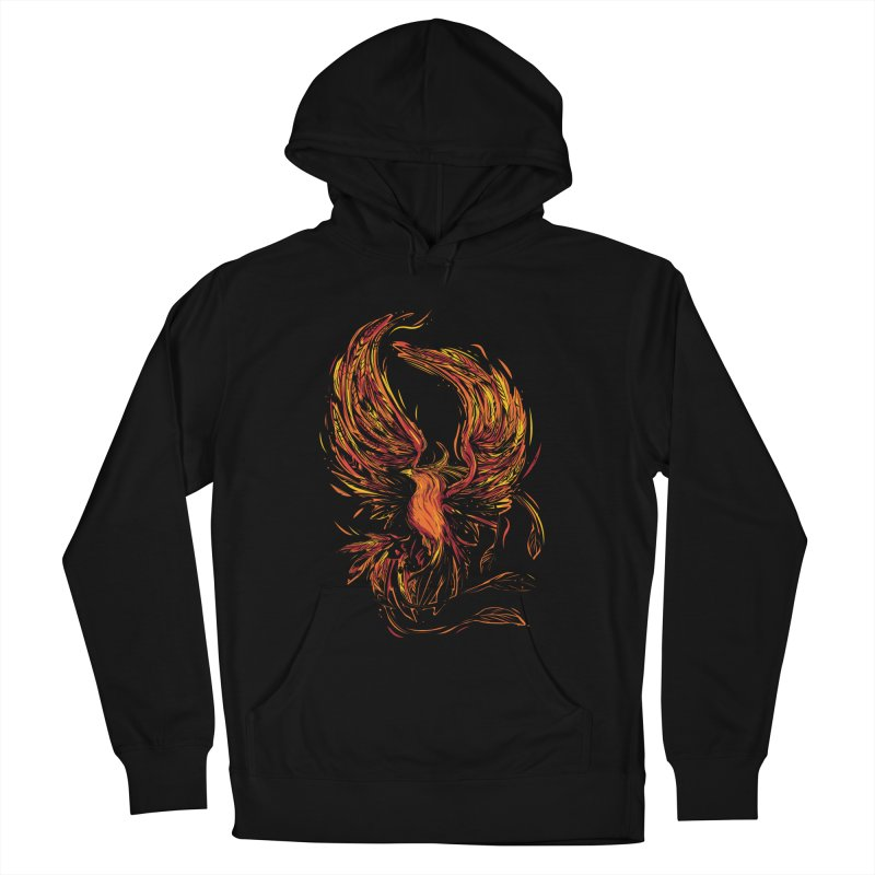 Phoenix Women's French Terry Pullover Hoody by Daniel Stevens's Artist Shop