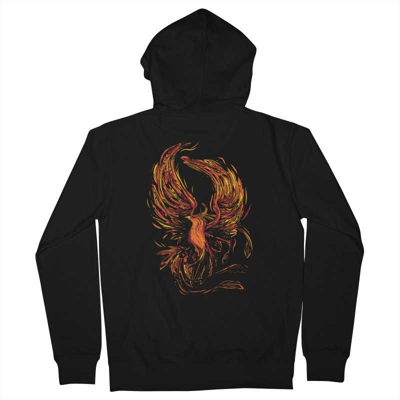 Phoenix Men's French Terry Zip-Up Hoody by danielstevens's Artist Shop