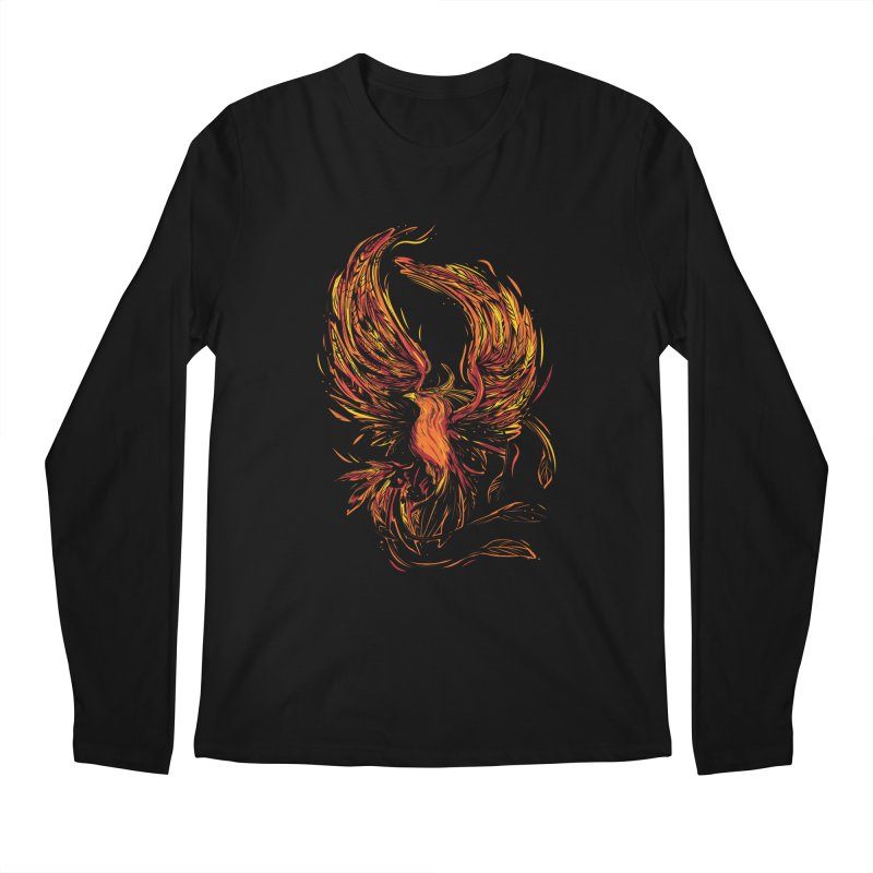 Phoenix Men's Regular Longsleeve T-Shirt by Daniel Stevens's Artist Shop