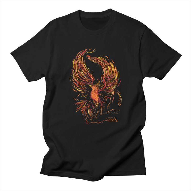 Phoenix Women's Regular Unisex T-Shirt by Daniel Stevens's Artist Shop