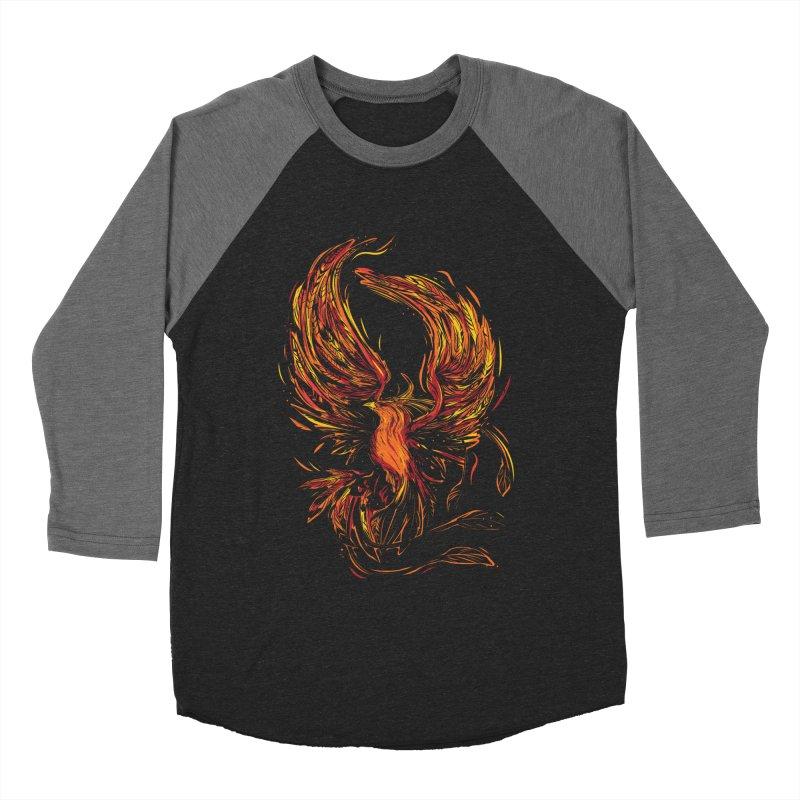 Phoenix Men's Baseball Triblend Longsleeve T-Shirt by Daniel Stevens's Artist Shop