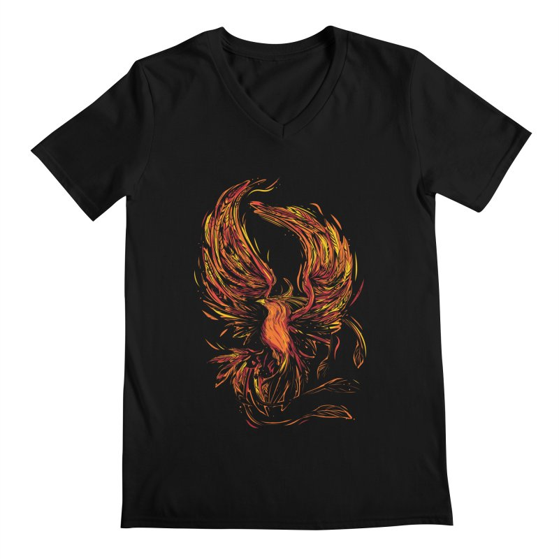 Phoenix Men's V-Neck by Daniel Stevens's Artist Shop