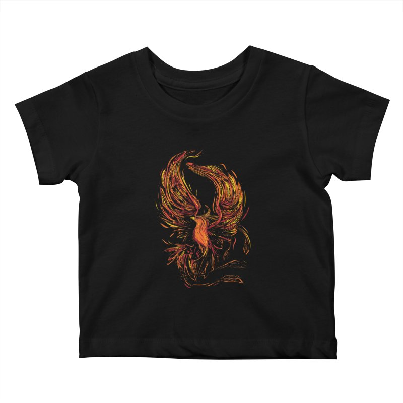 Phoenix Kids Baby T-Shirt by danielstevens's Artist Shop