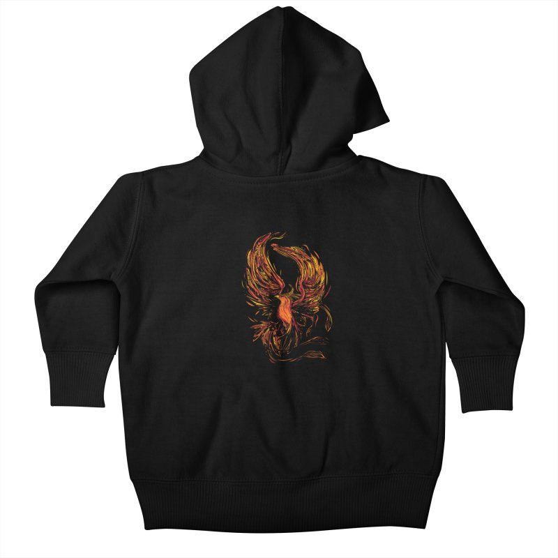 Phoenix Kids Baby Zip-Up Hoody by Daniel Stevens's Artist Shop