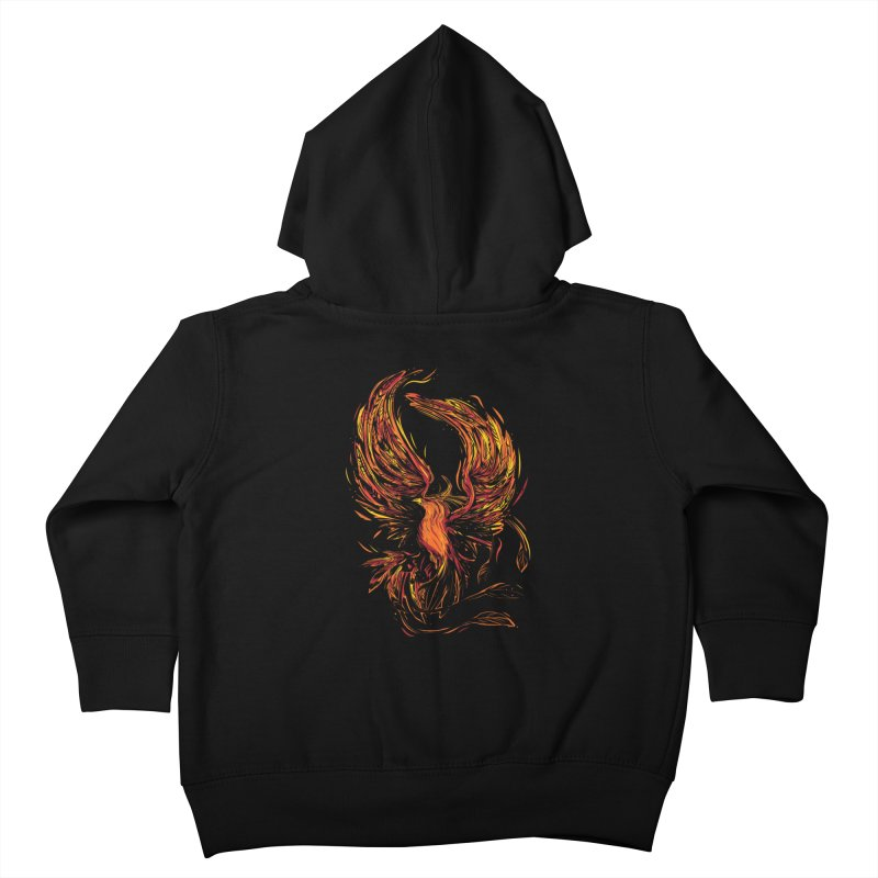 Phoenix Kids Toddler Zip-Up Hoody by Daniel Stevens's Artist Shop