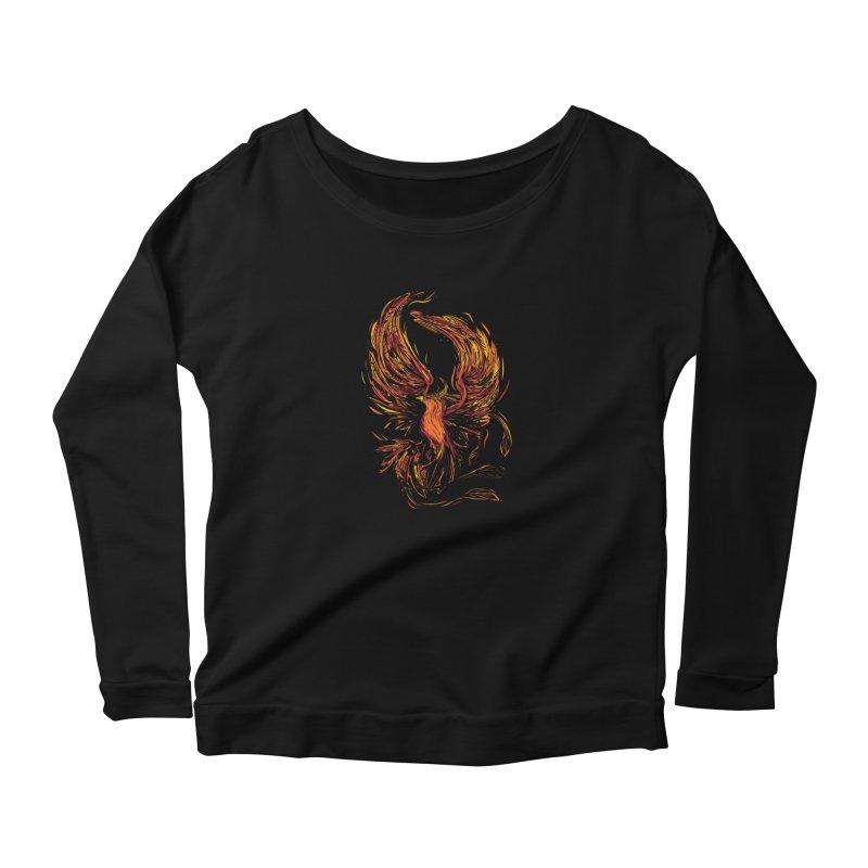 Phoenix Women's Longsleeve T-Shirt by Daniel Stevens's Artist Shop