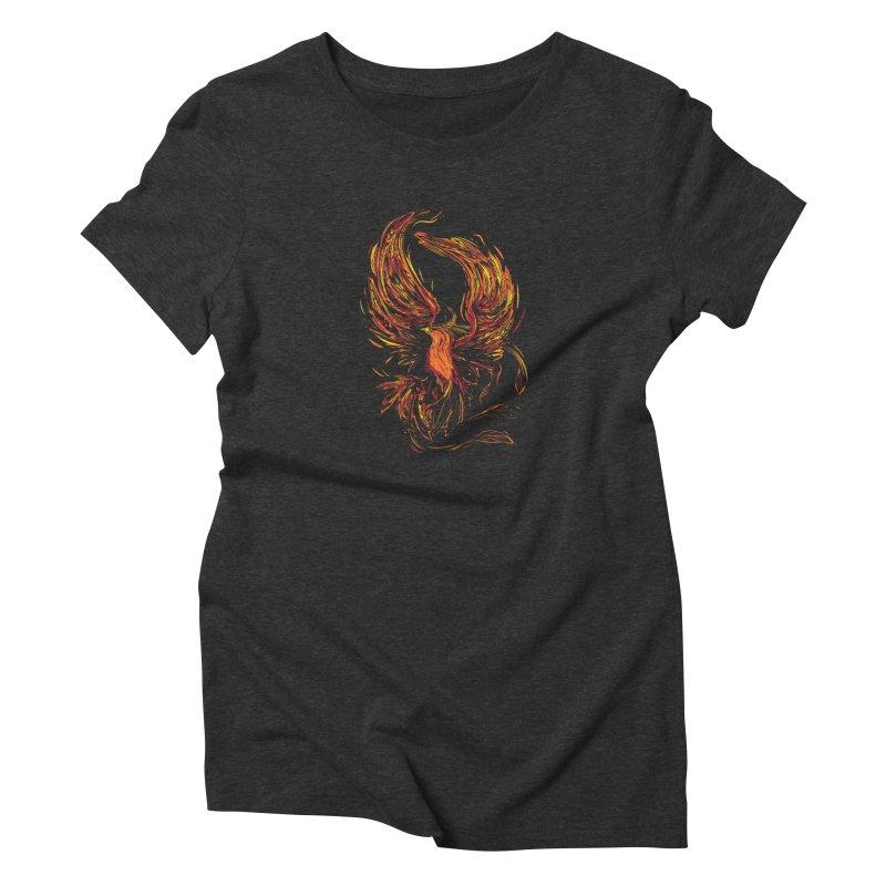Phoenix Women's T-Shirt by Daniel Stevens's Artist Shop
