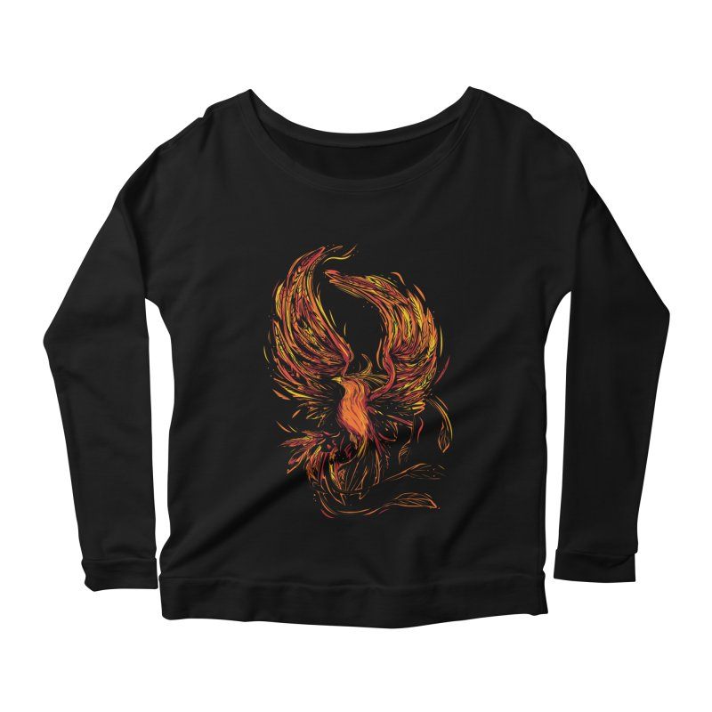 Phoenix Women's Scoop Neck Longsleeve T-Shirt by danielstevens's Artist Shop